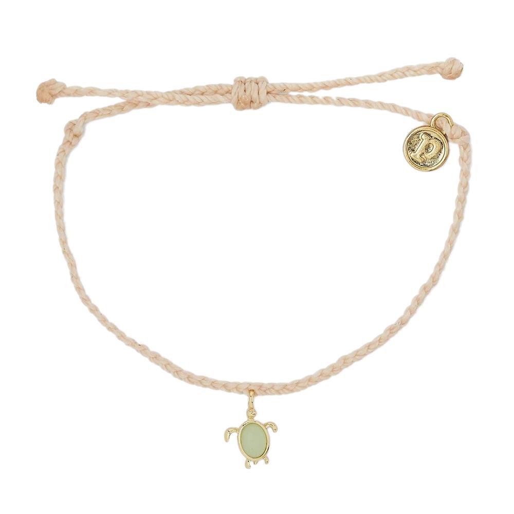 Pura Vida|美國手工 慈善系列 保護海龜金色 膚色蠟線衝浪手鍊手環