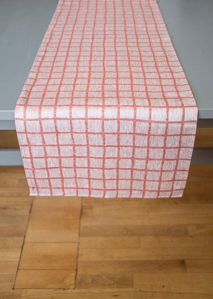 北歐風設計師款 – 格子桌旗, 紅色 Rutig Table Runner, Red