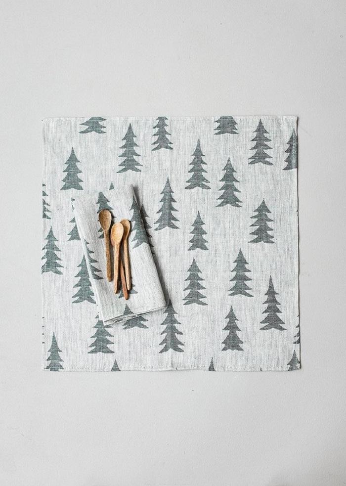 (複製)Fine Little Day|北歐風設計師款 – 方格餐巾二入組(黑) Rutig Napkins 2-pack, Black