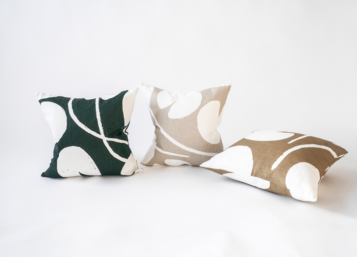 (複製)Fine Little Day|北歐風設計師款 – 枕頭套SWAN CUSHION COVER, GREEN