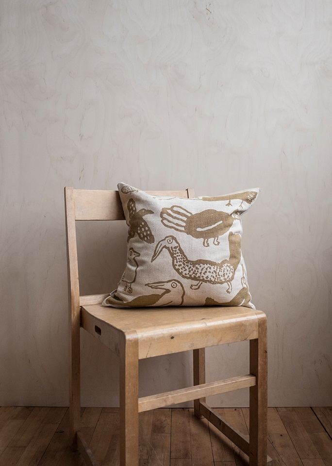 Fine Little Day|北歐風設計師款 – 枕頭套TORI CUSHION COVER, MUSTARD