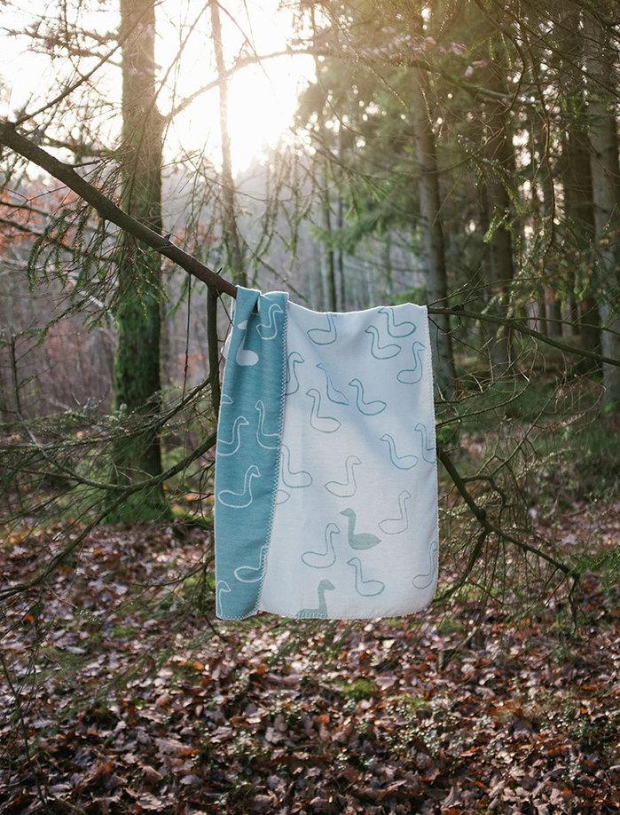 (複製)Fine Little Day| 森林有機棉提花刷毛毯(黑白)–GRAN WOVEN CHILD BLANKET(Black&white)