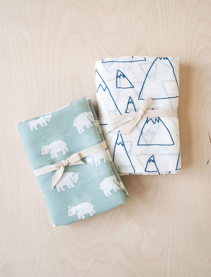 (複製)Fine Little Day|有機棉紗布包巾(森林 – 黑白) – GRAN MUSLIN BLANKET