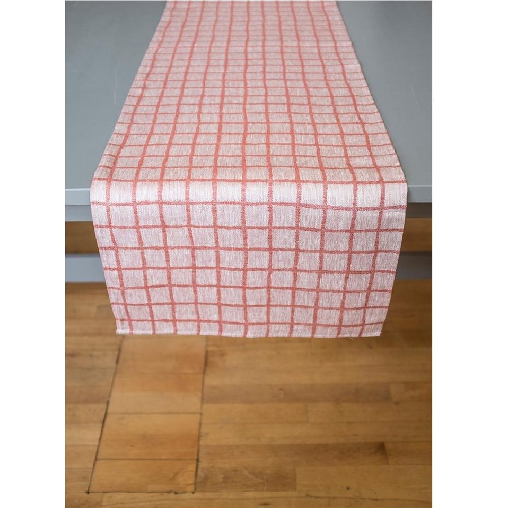 Fine Little Day 北歐風設計師款 – 格子桌旗, 紅色 Rutig Table Runner, Red