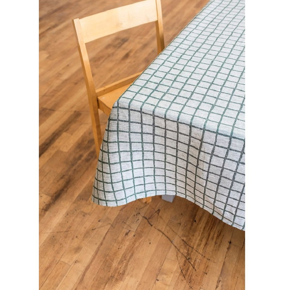 Fine Little Day|北歐風設計師款 – 格子桌巾, 墨綠 (147X147cm) Rutig Tablecloth, Green