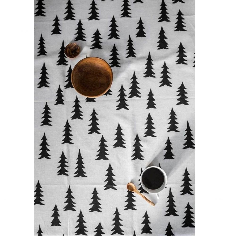 Fine Little Day 北歐風設計師款 – 冷杉桌巾(147X147cm) Gran Tablecloth, Black