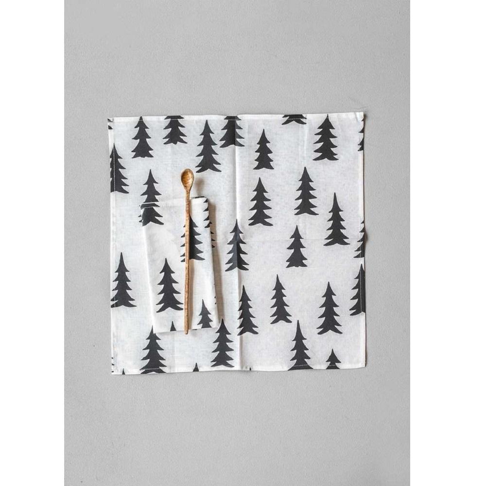Fine Little Day| 北歐風設計師款 – 冷杉餐巾二入組(黑) Gran Napkins 2-pack, Svart