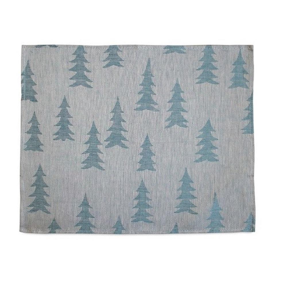 Fine Little Day  北歐風設計師款 – 冷杉桌墊(粉藍) Gran Place Mat, Blue / Powder