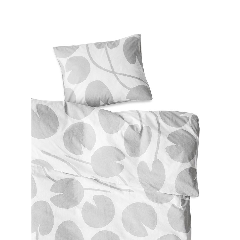 Fine Little Day| 有機棉被套枕套兩件組 – WATER LILIES BED SET, GREY