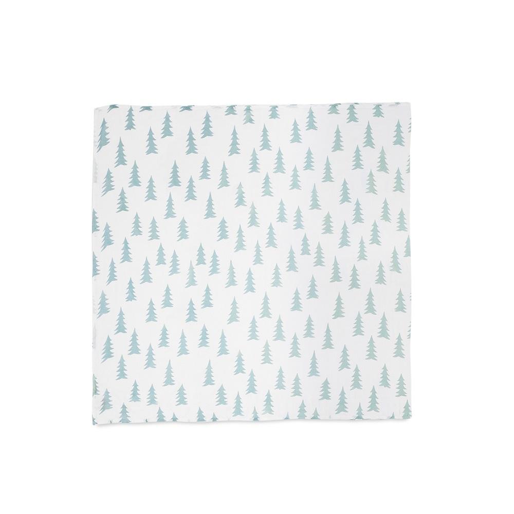 Fine Little Day| 有機棉紗布包巾(森林 – 草綠) – GRAN MUSLIN BLANKET – Sage Green