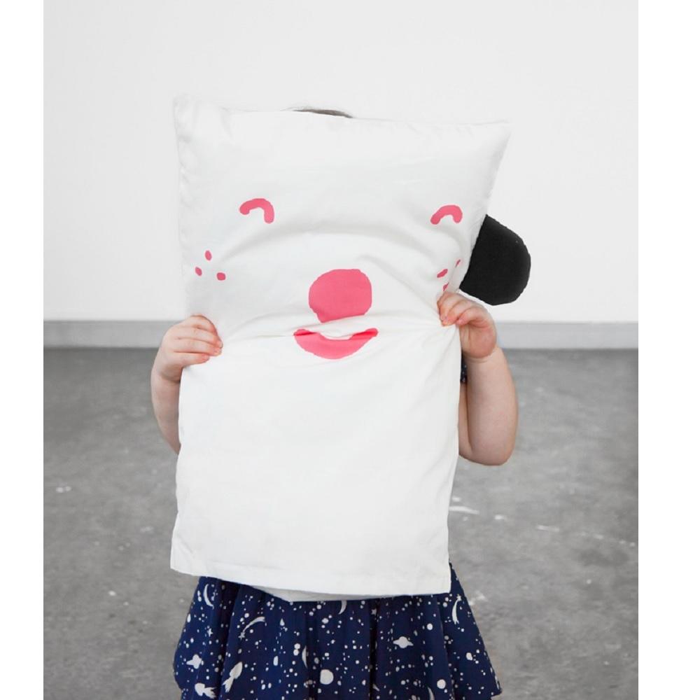 Fine Little Day 表情枕頭套 (粉) – Happy/Sad pillow case (pink)