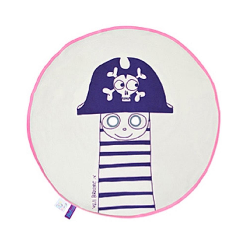Fine Little Day|BU! BLANKIE 躲貓貓有機棉毯 – 海盜(粉邊) Pirate Pink