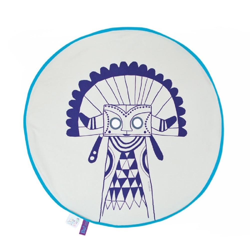 Fine Little Day| BU! BLANKIE 躲貓貓有機棉毯–印地安藍(藍邊) Indian Blue/Blue