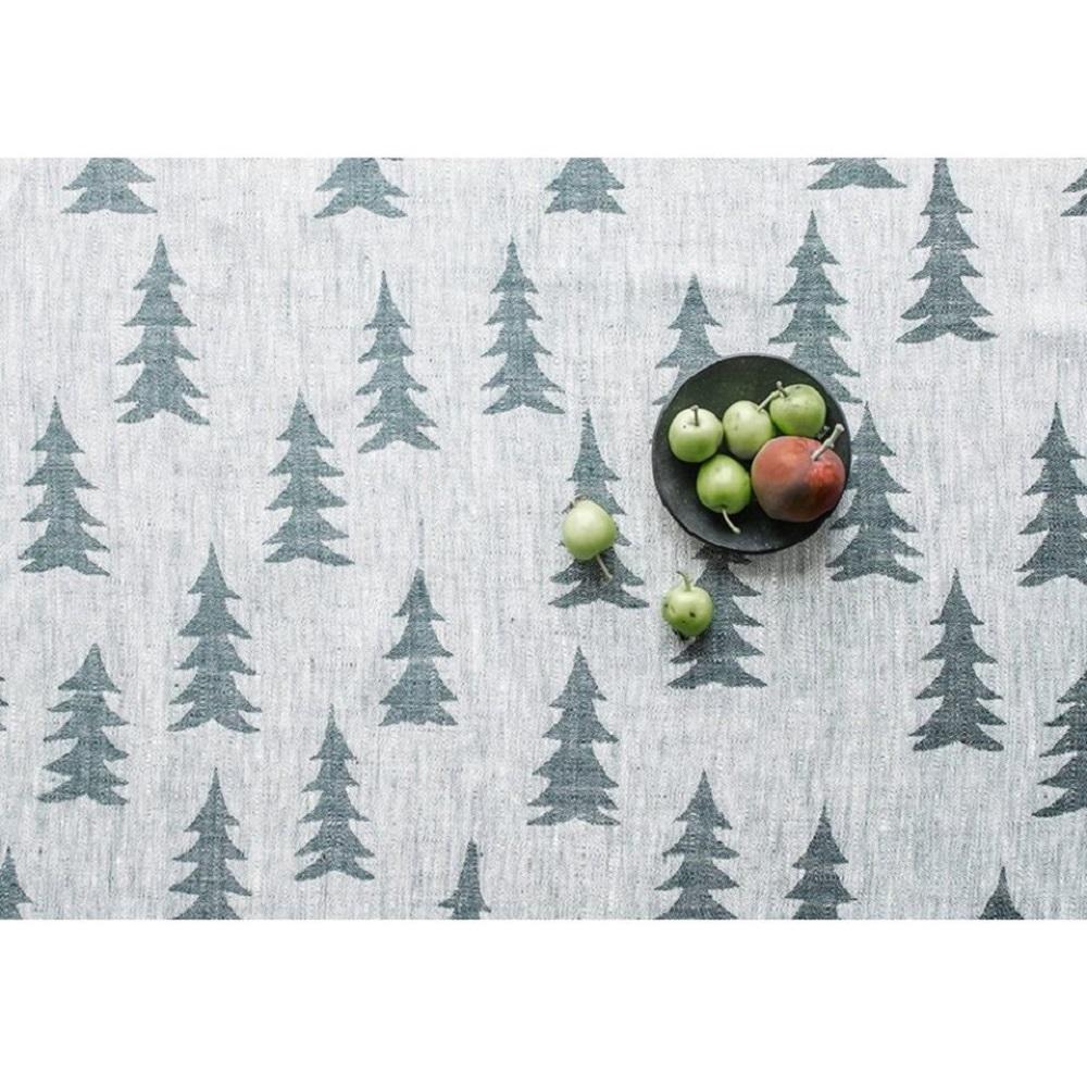 Fine Little Day|北歐風設計師款 – 冷杉桌巾(147X147cm) Gran Tablecloth, Dark Green