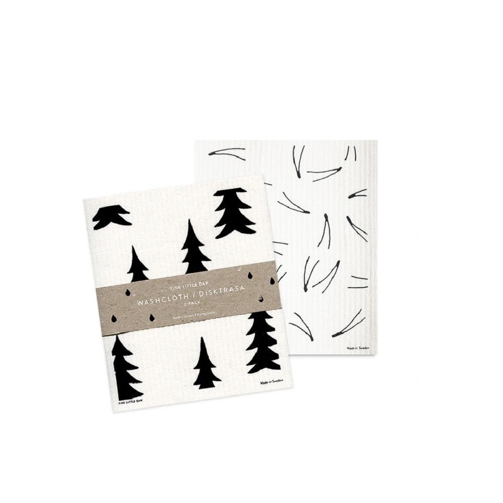 Fine Little Day|環保洗碗布-DISH CLOTH GRAN/BARR 2-PACK(17 X 20 cm)