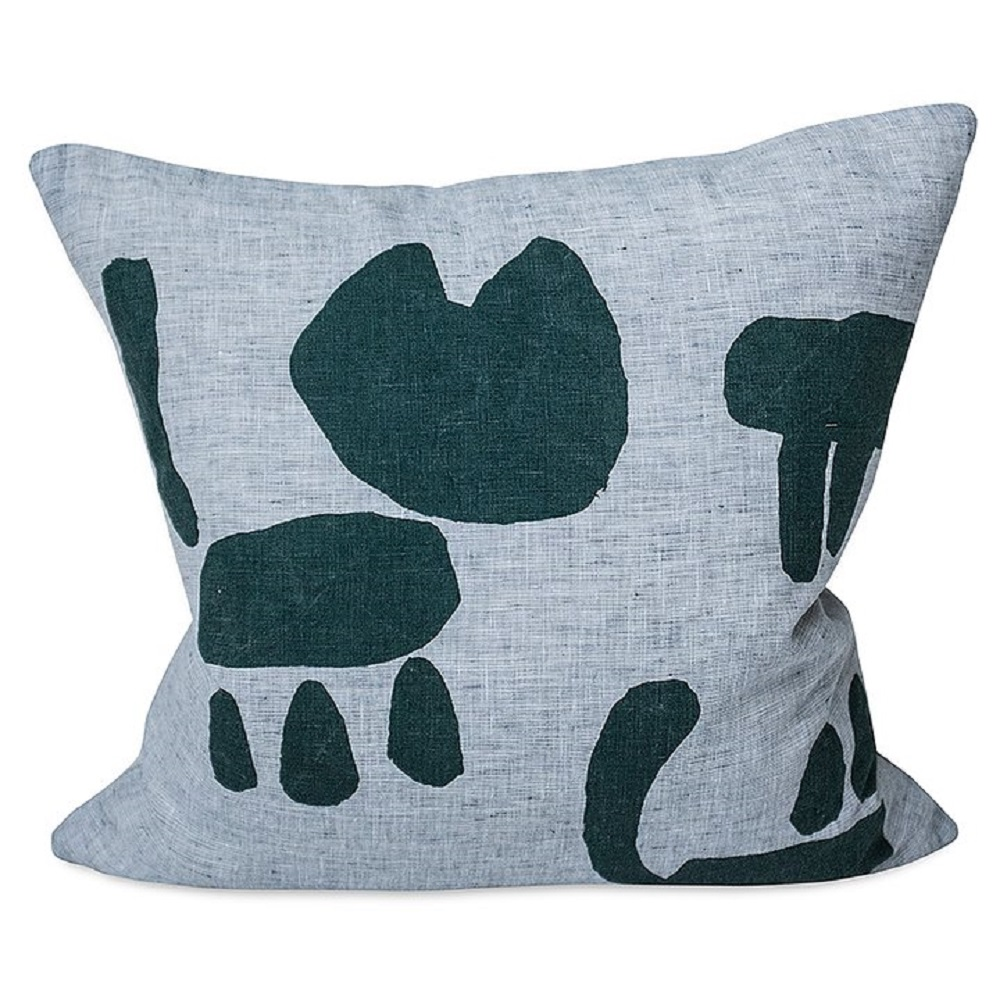 Fine Little Day|北歐風設計師款 – 抱枕套CAT CUSHION COVER, GREEN