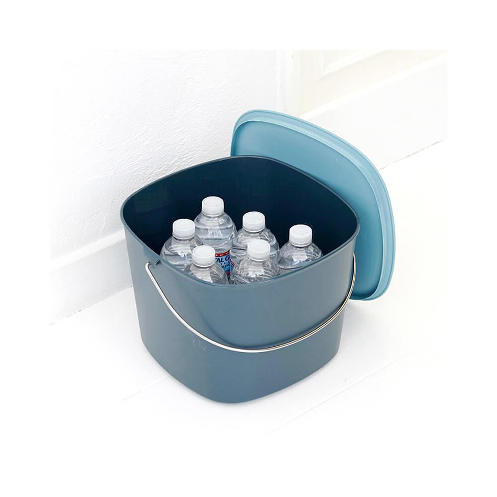 tidy|時尚簡約收納桶(藍綠色)