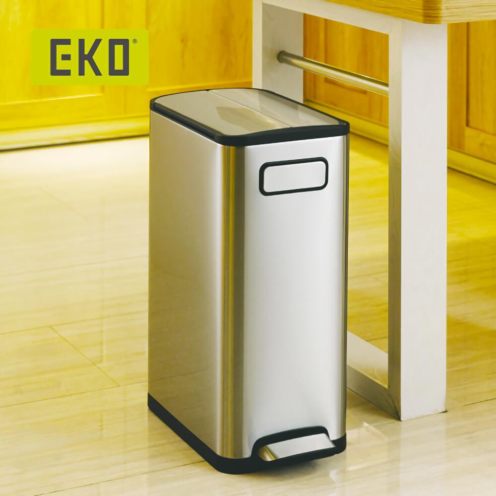 EKO|蝶韻靜音垃圾桶-20L