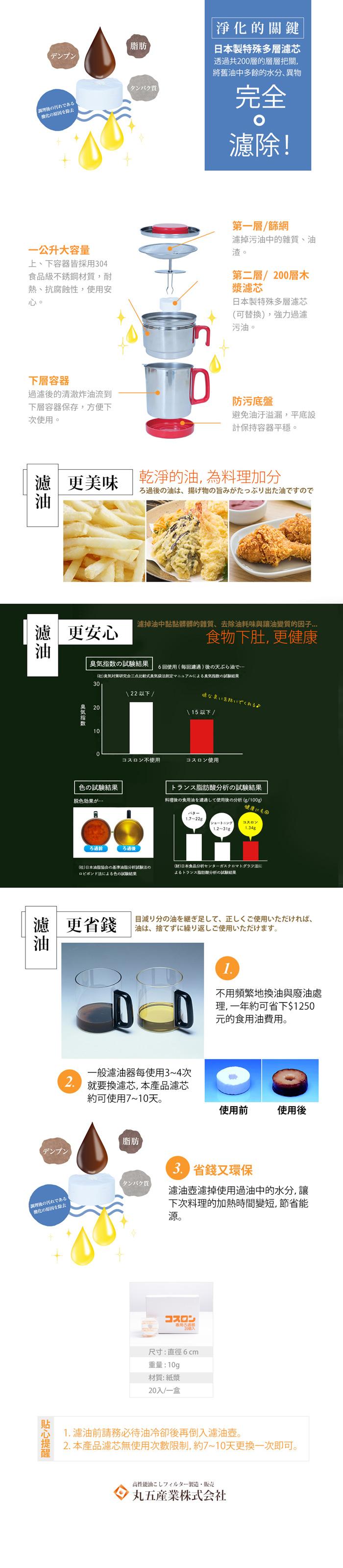(複製)【集購】丸五產業株式会社 家用不鏽鋼濾油/儲油壺 附濾芯2入