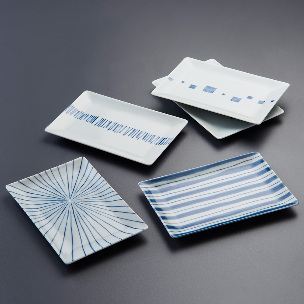 西海陶器|日本美濃燒 日式簡約五件式點心盤