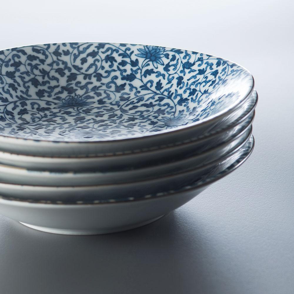 西海陶器|波佐見燒 職人手繪系列 五件式淺菜盤