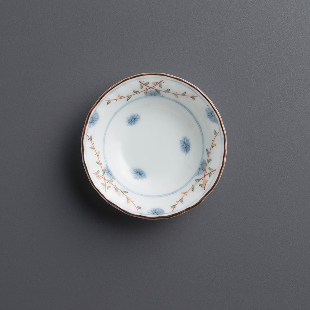 西海陶器 染錦花繪 五件式小菜碟