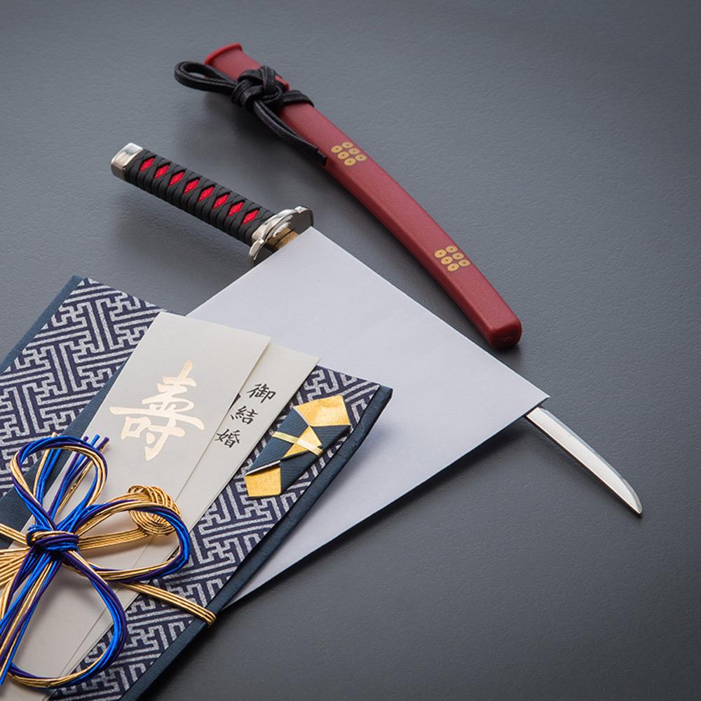 nikken-cutlery 復刻名將 武士魂拆信刀 全系列六件組