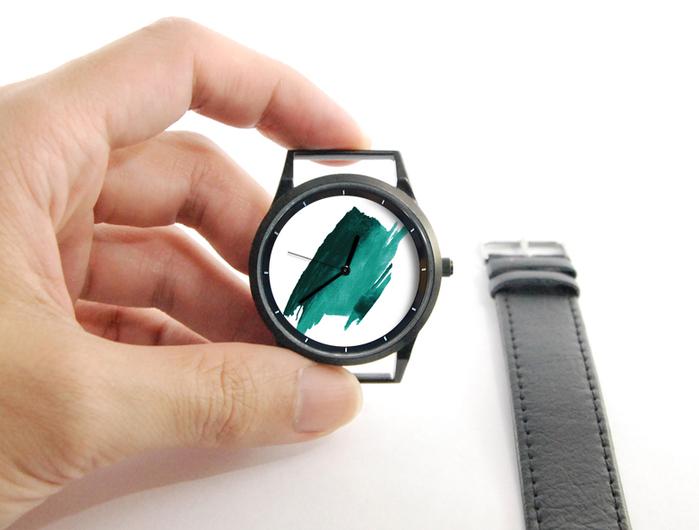 (複製)WenTi|插畫X手錶─時間印記(簡單綠)