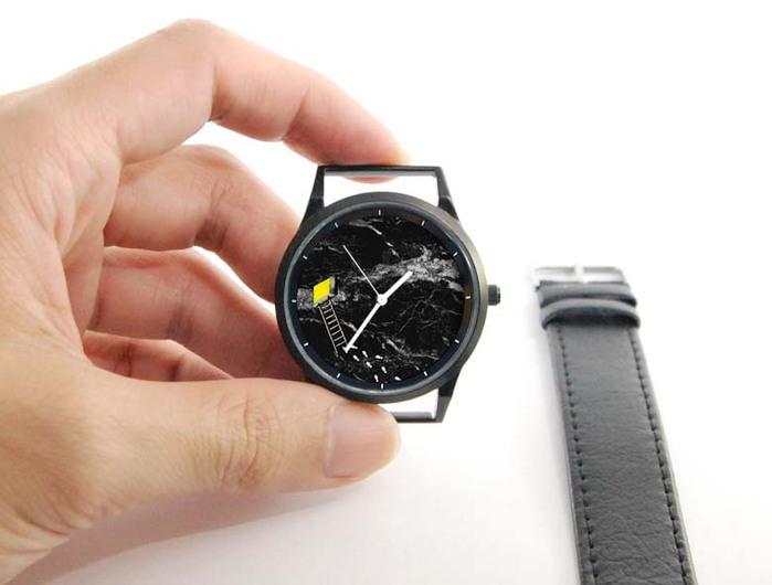 (複製)WenTi|插畫X手錶─時間印記(簡單藍)