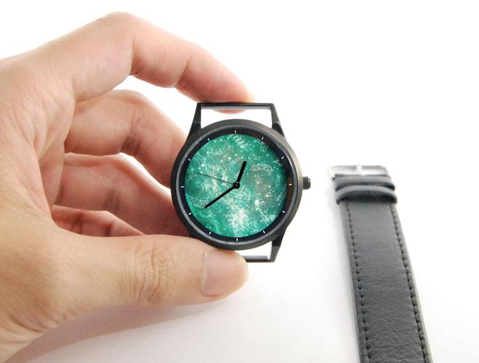 WenTi|插畫X手錶─彌留宇宙(綠星際)