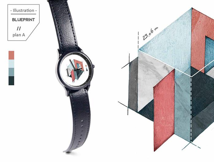 WenTi|插畫X手錶─Blueprint(plan A)