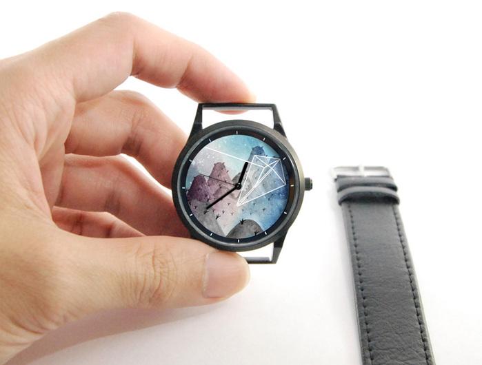 (複製)WenTi 插畫X手錶─摺紙系列(紙風箏)