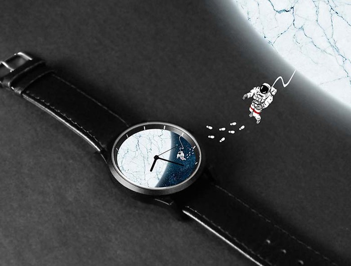 (複製)WenTi|插畫X手錶─摺紙系列(Time river)