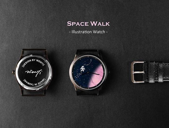 WenTi|插畫X手錶─太空漫遊系列(1am)