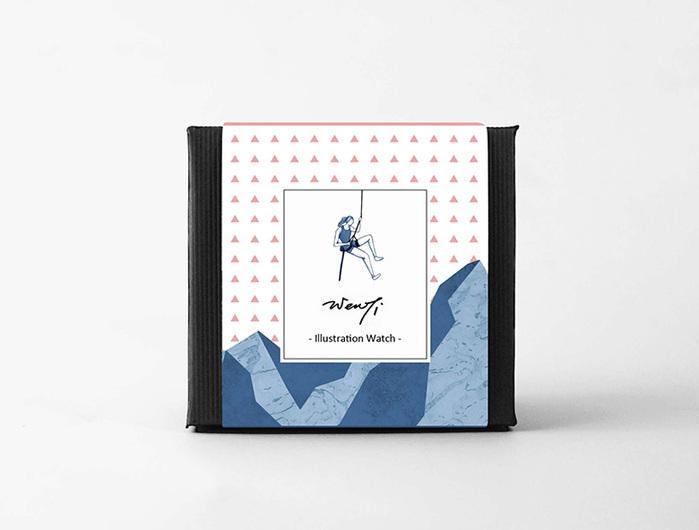 WenTi 插畫X手錶─Move on系列(Climbing)