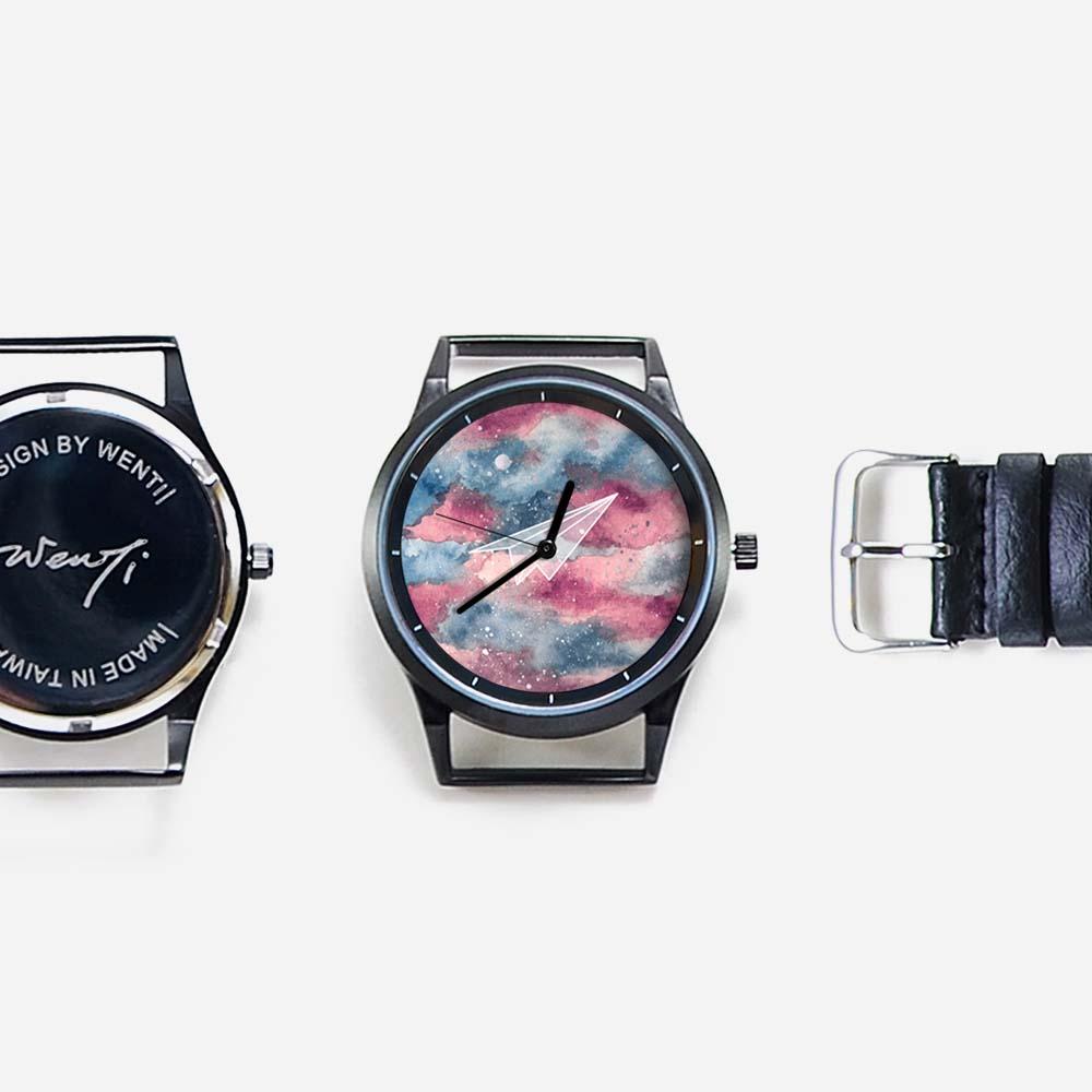 WenTi|插畫X手錶─摺紙系列(紙飛機)