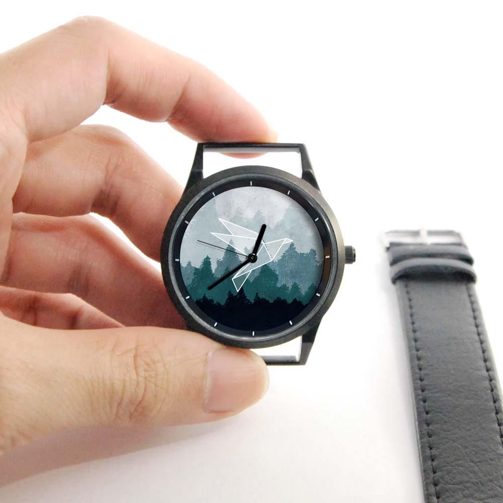 WenTi|插畫X手錶─摺紙系列(紙飛鳥)