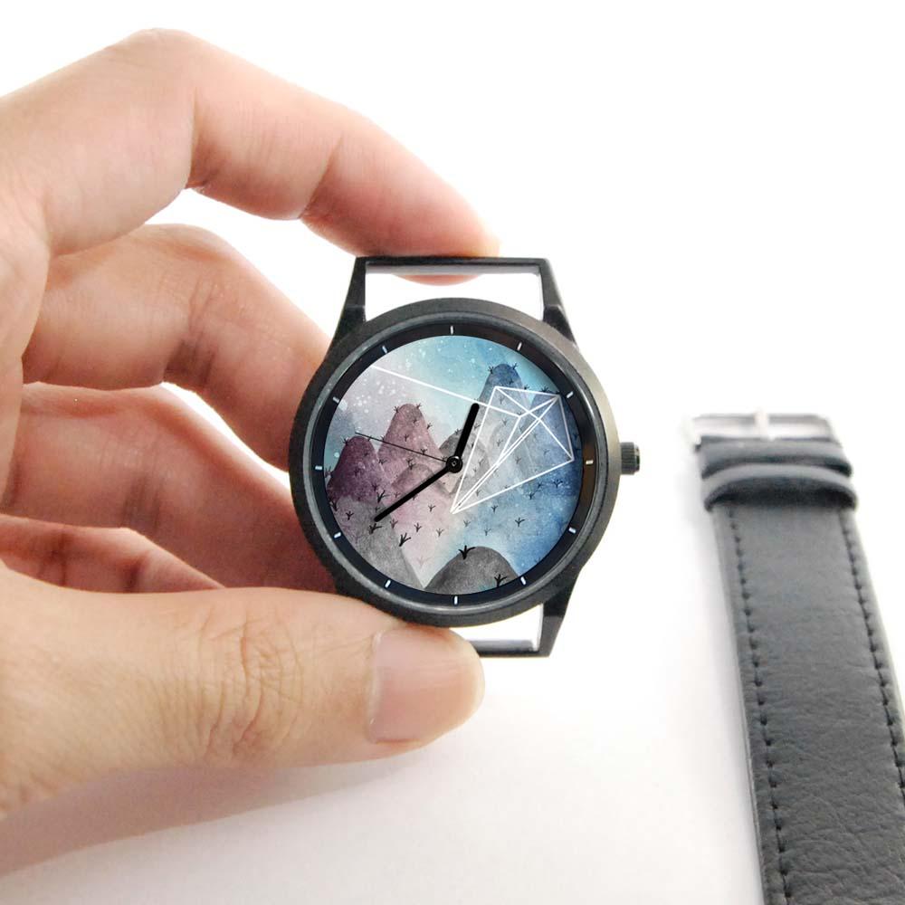 WenTi 插畫X手錶─摺紙系列(紙風箏)