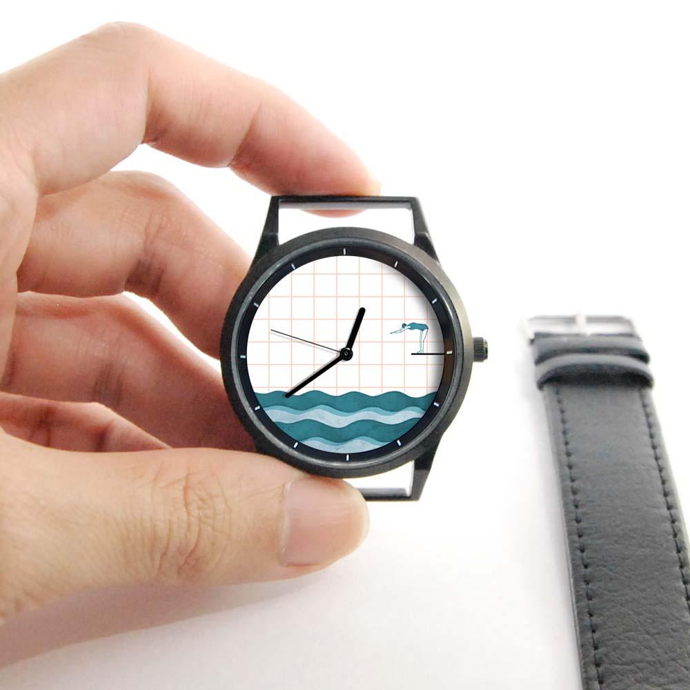 WenTi|插畫X手錶─Move on系列(Swimming)