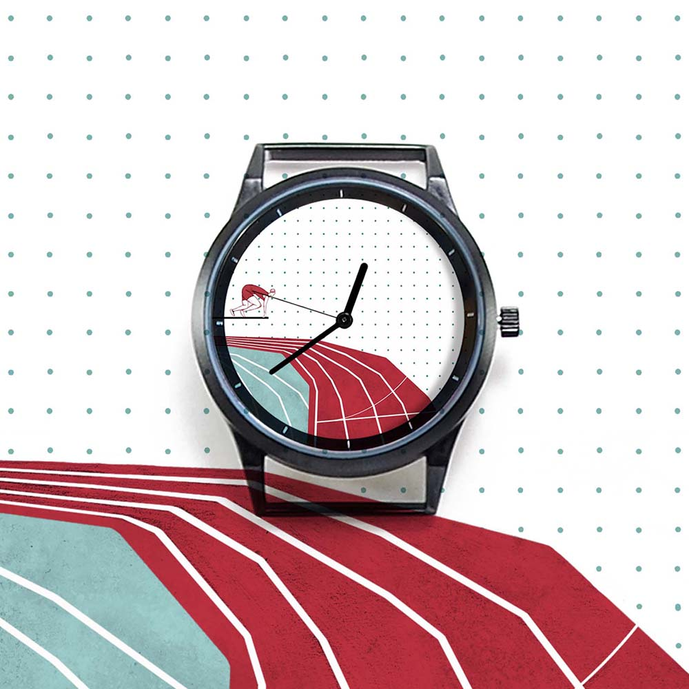 WenTi|插畫X手錶─Move on系列(Running)