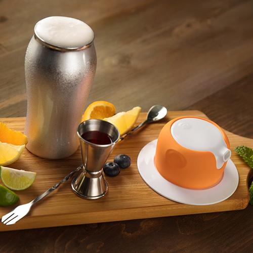 foampresso|攜帶式飲料泡沫器 (橙石橘)