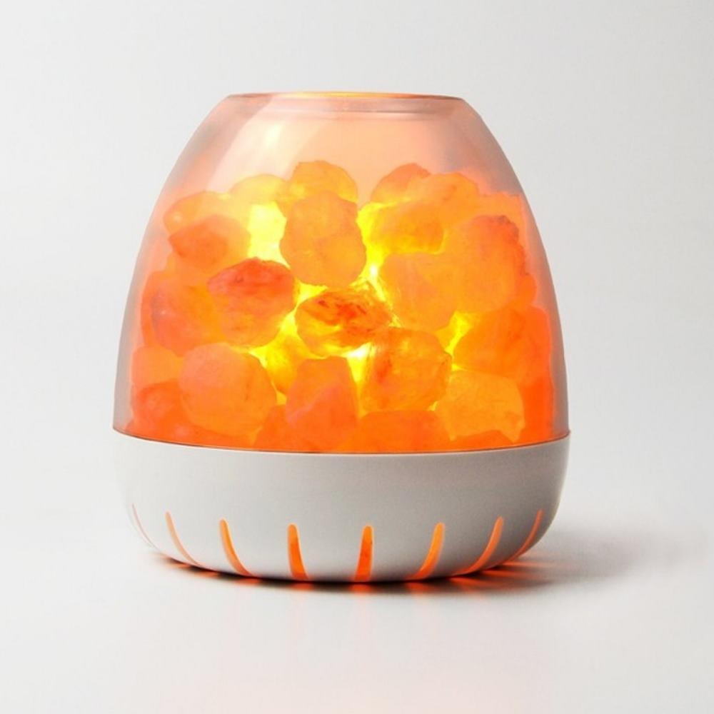 Ambion | 白山LED玫瑰鹽晶燈(Annapurna/白)