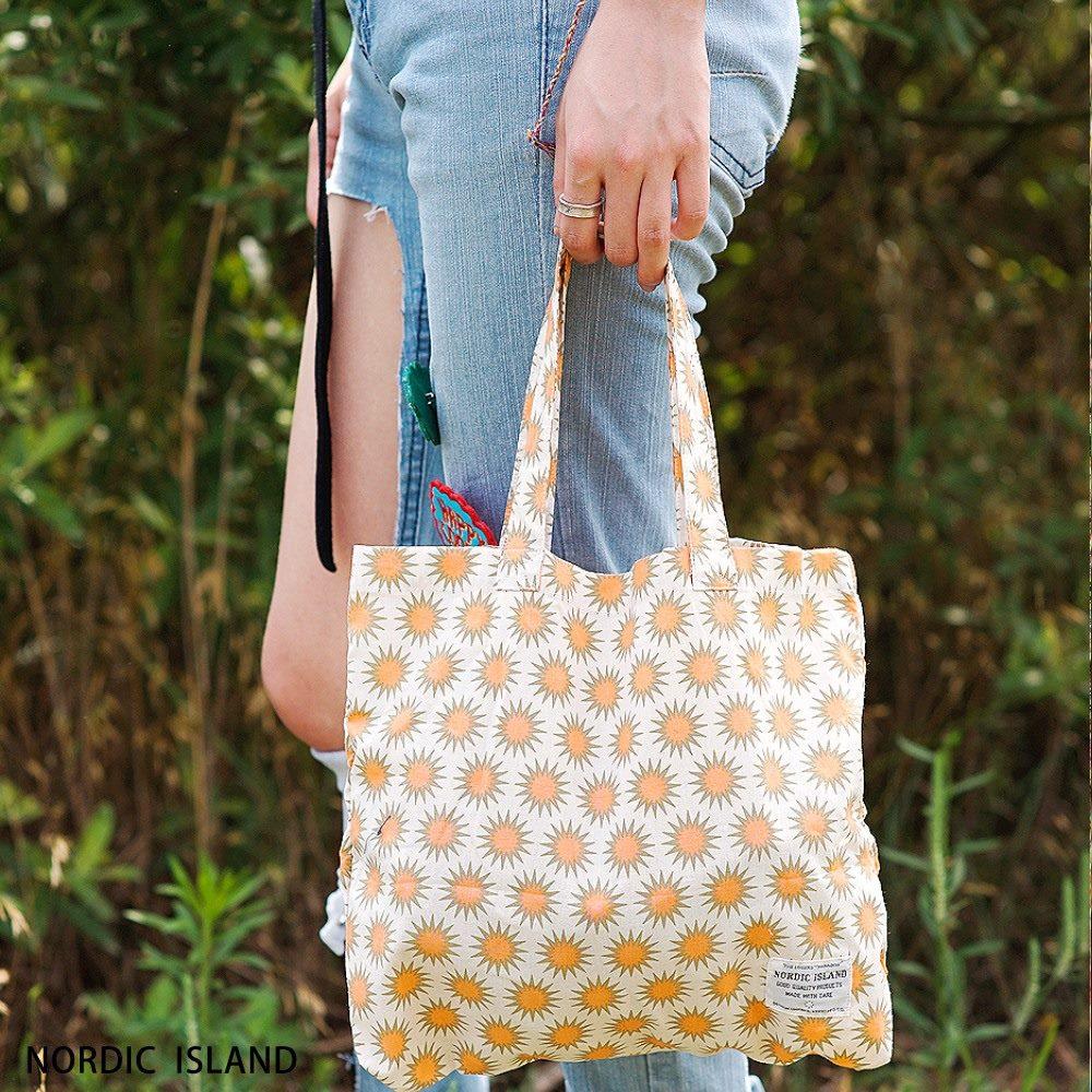 NORDIC ISLAND | 帆布購物袋-Twinkle閃爍 (橙色)