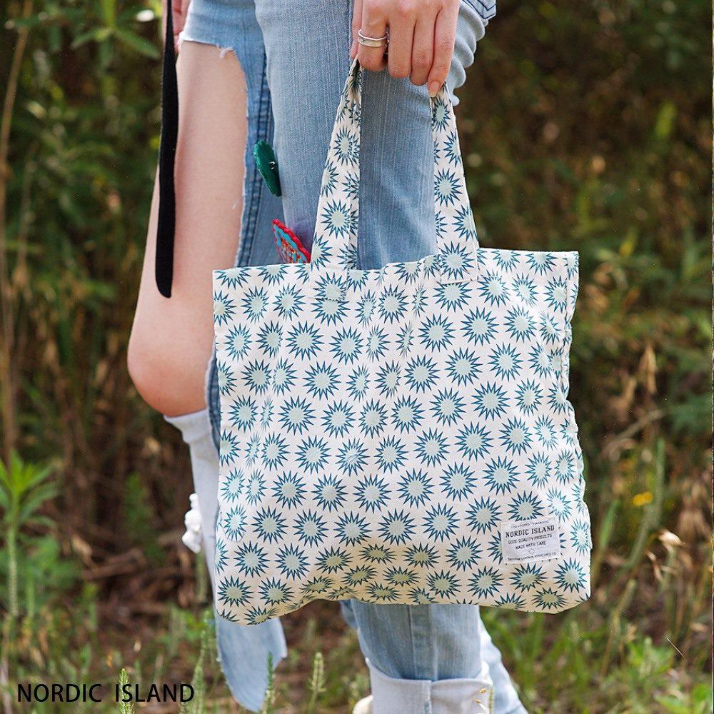 NORDIC ISLAND   帆布購物袋-Twinkle閃爍 (綠色)