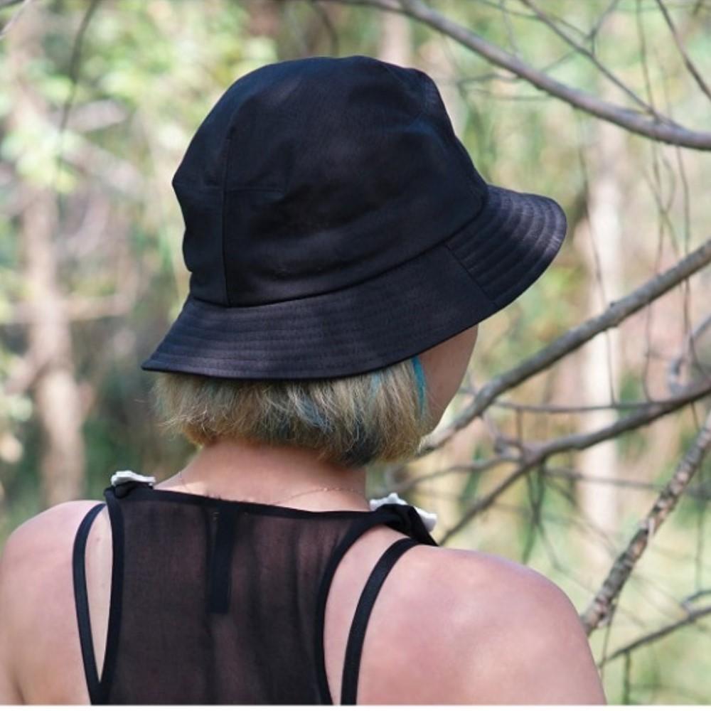 NORDIC ISLAND│雙色漁夫帽-棕櫚樹/黑色