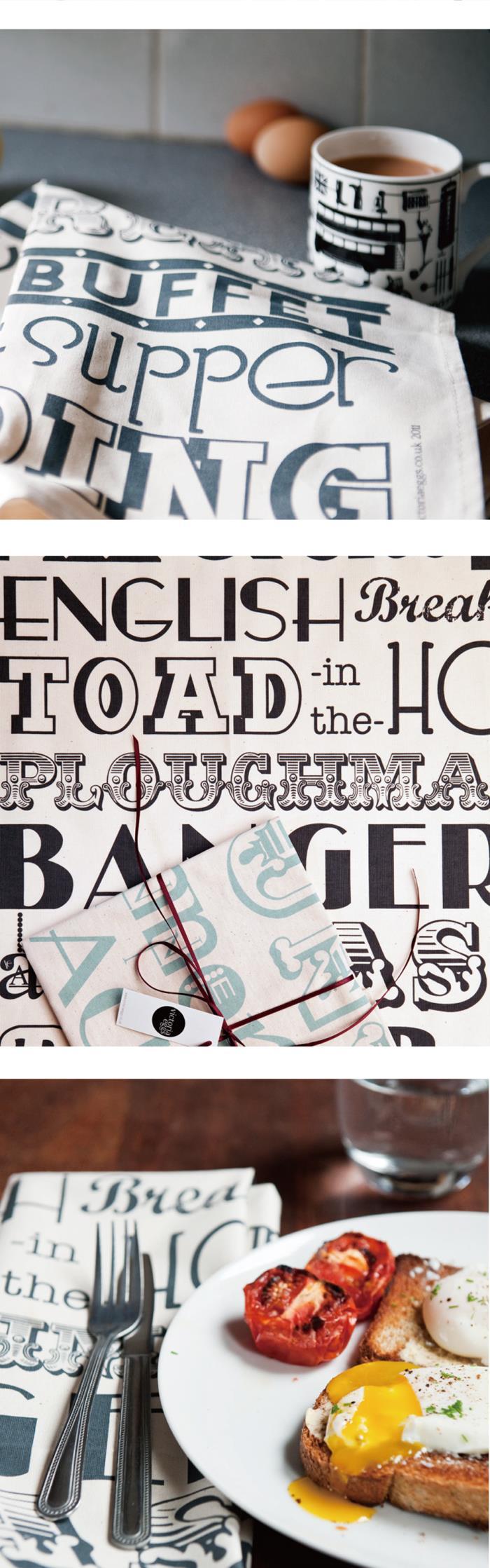 英國蛋 | 純棉碗盤擦布 英格蘭晚餐
