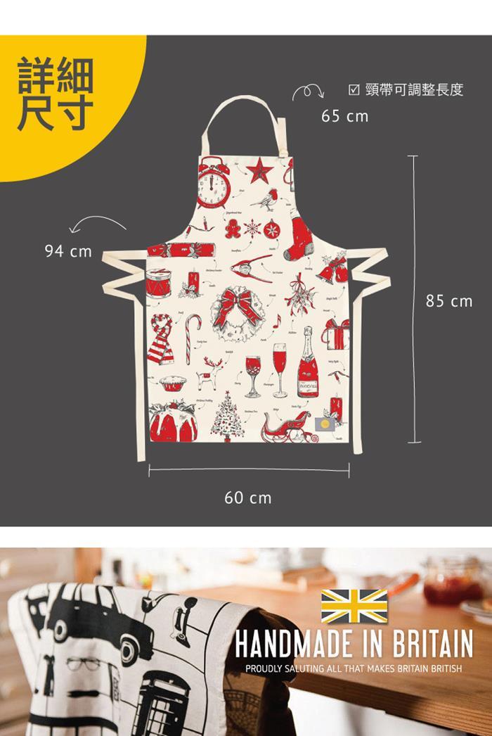 英國蛋|有機棉圍裙 聖誕狂歡