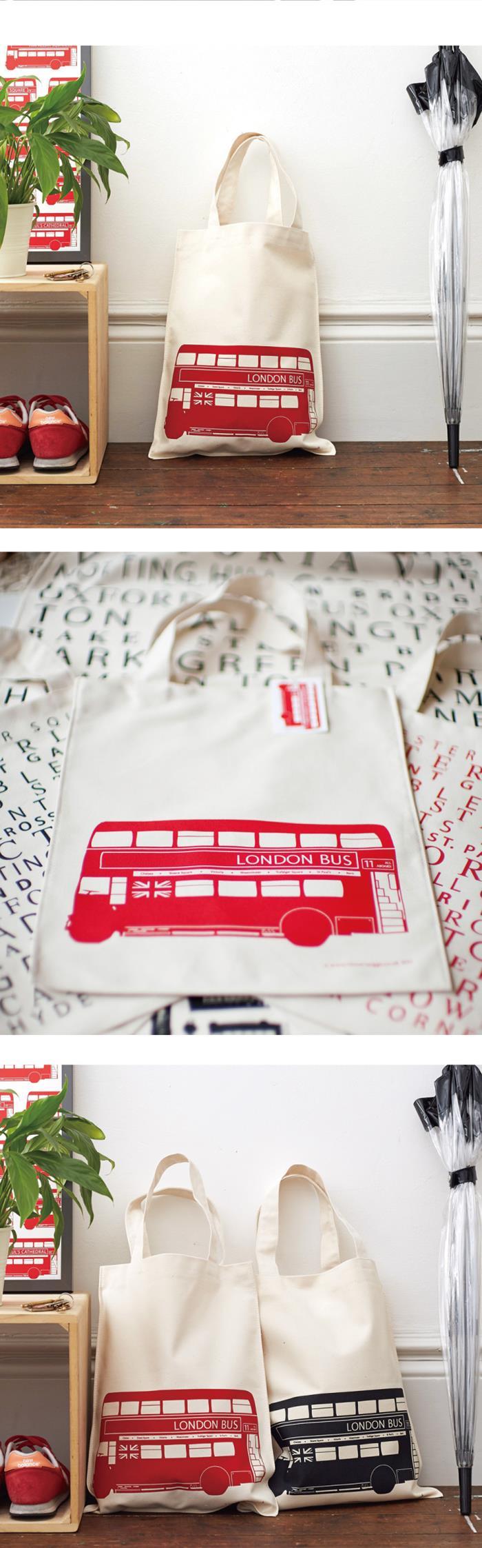 英國蛋|帆布包 倫敦公車