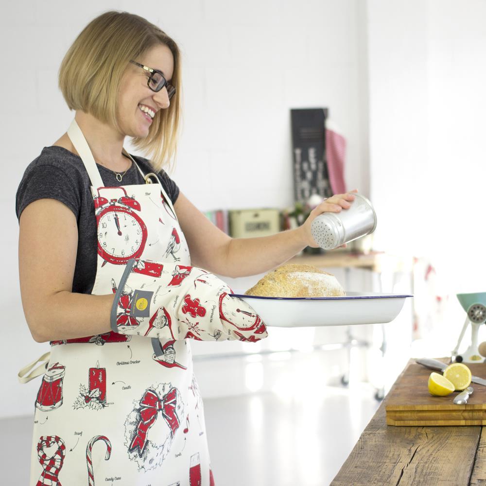 英國蛋 Victoria Eggs|有機棉圍裙 聖誕狂歡