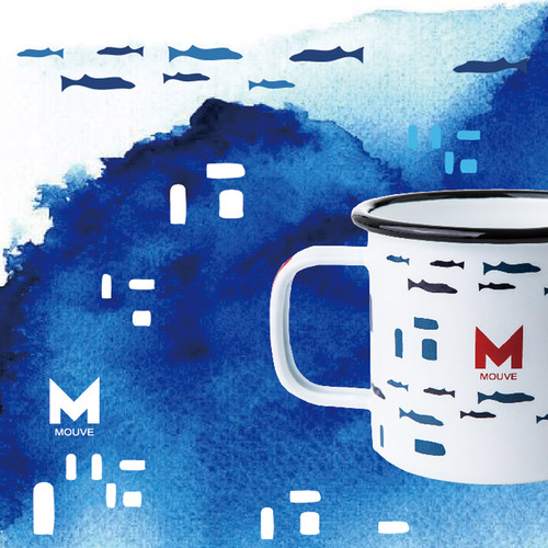 MOUVE|聖托里尼海洋琺瑯杯